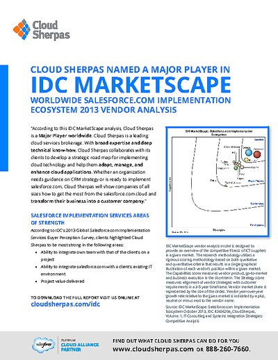 Whitepaperbox | Cloud Sherpas Named A Major Player In Idc